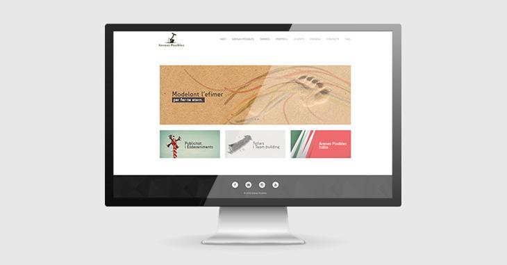 Pàgina web d'Arenas Posibles