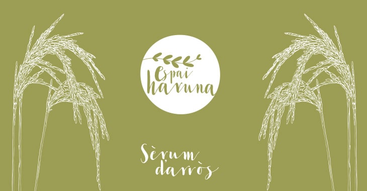 Labelling and packaging design for beauty products: Espai Haruna