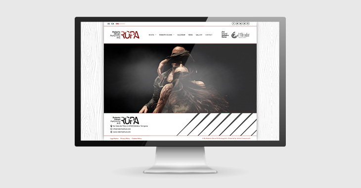 web de Roberto Olivan Performing Arts