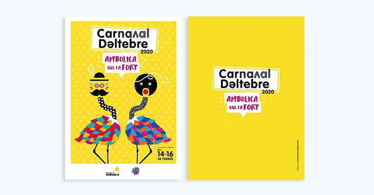 Imatge gràfica del Carnaval de Deltebre 2020